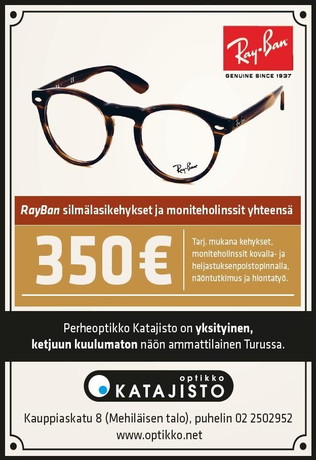 RayBan silmälasit ja moniteholinssit yhteensä 350€ - Optikko ... d6381e8aab